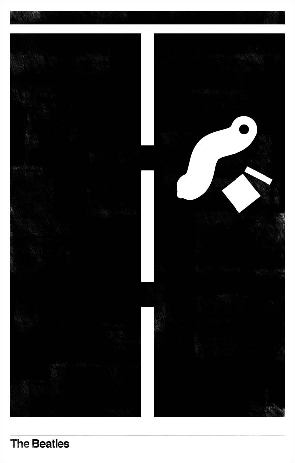 minimalist beatles music posters 02 Minimalist Beatles Music Posters by Matt Chase