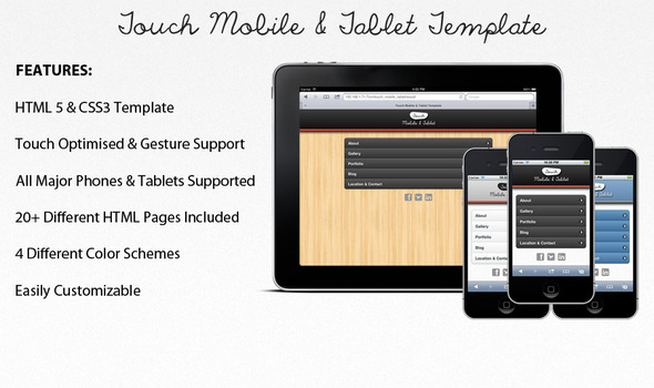 mobile website templates 09 50 Best Mobile Website Templates