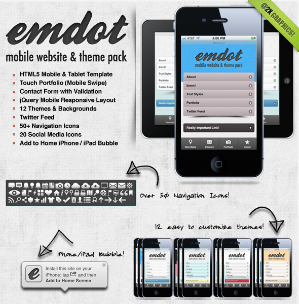 mobile website templates 12 50 Best Mobile Website Templates