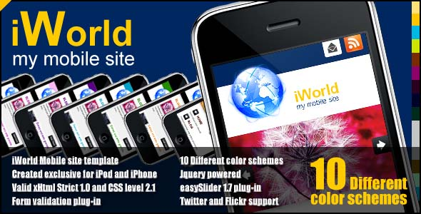 mobile website templates 161 50 Best Mobile Website Templates