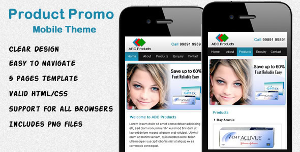 mobile website templates 25 50 Best Mobile Website Templates