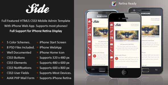 mobile website templates 32 50 Best Mobile Website Templates