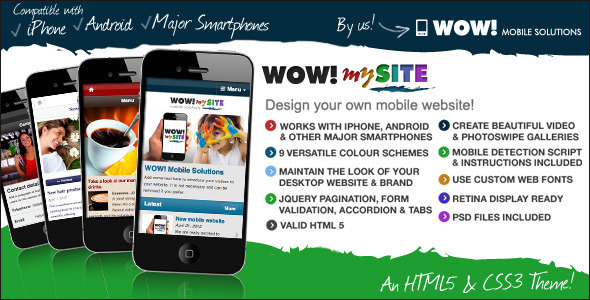 mobile website templates 33 50 Best Mobile Website Templates