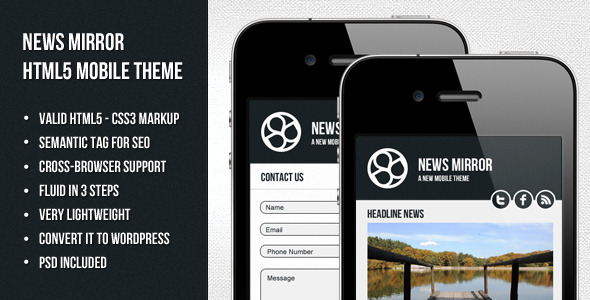 mobile website templates 43 50 Best Mobile Website Templates
