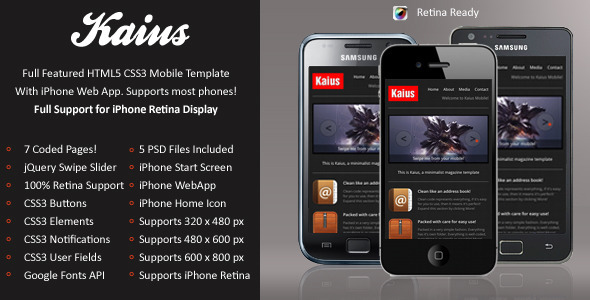 mobile website templates 44 50 Best Mobile Website Templates