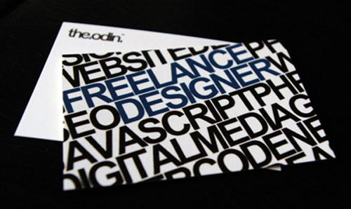 typographic business cards 06 30 Typographic Business Cards Design Inspiration