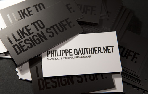 typographic business cards 11 30 Typographic Business Cards Design Inspiration