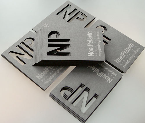typographic business cards 12 30 Typographic Business Cards Design Inspiration