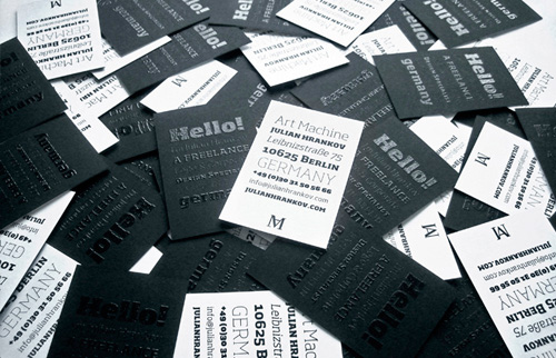 typographic business cards 20 30 Typographic Business Cards Design Inspiration