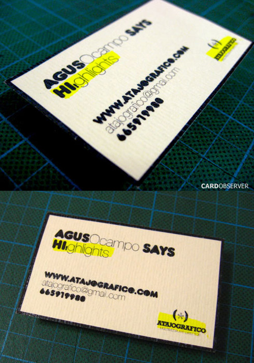 typographic business cards 27 30 Typographic Business Cards Design Inspiration
