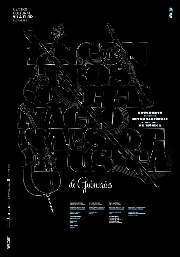 Encontros 25 Creative Typography Poster Design