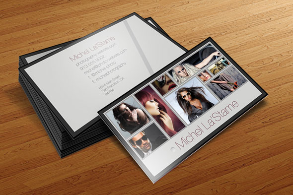 photography business card templates 01 15 Best Photography Business Card Templates