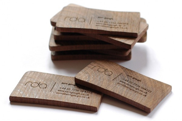 wood card 03 40 Creative Wooden Business Cards Inspiration