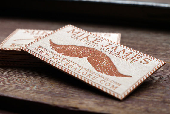 wood card 08 40 Creative Wooden Business Cards Inspiration