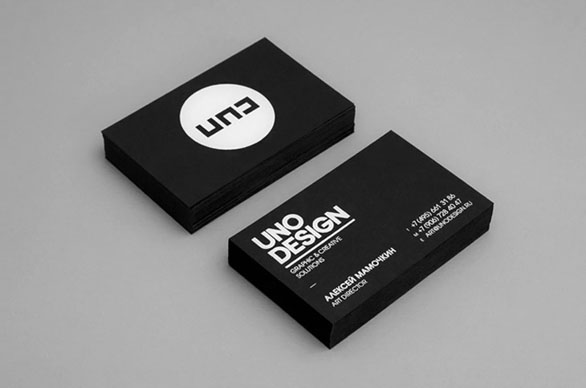black business cards 10 40 Inspirational Black Business Cards
