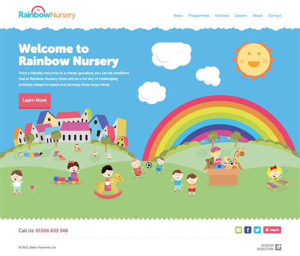 Rainbow Nursery Web Design Inspiration #21