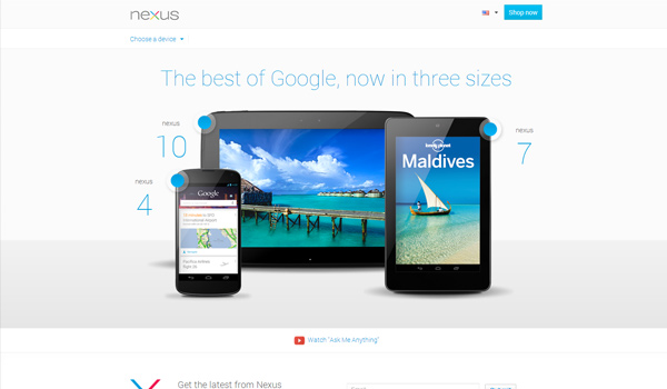 Google Nexus Web Design Inspiration #22