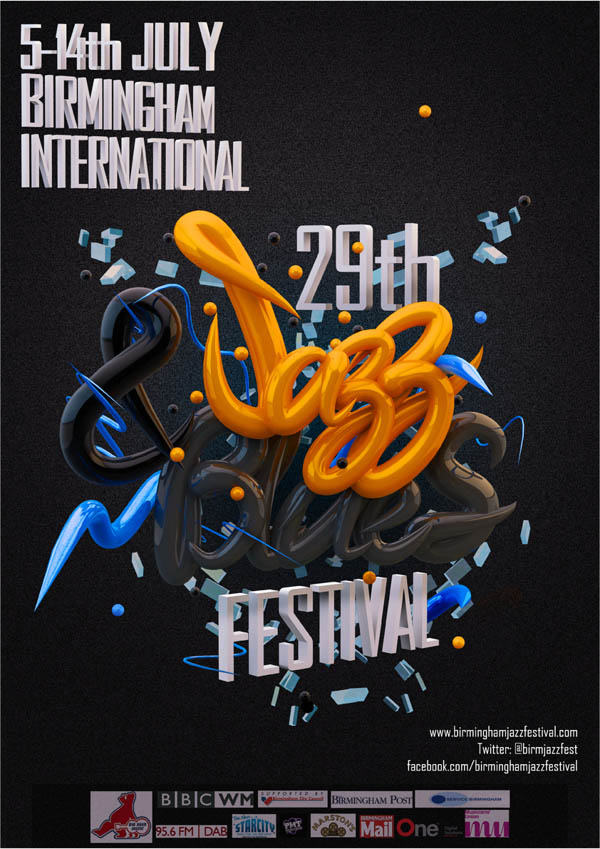 jazz festival typography Typography Artworks by Will Lanham