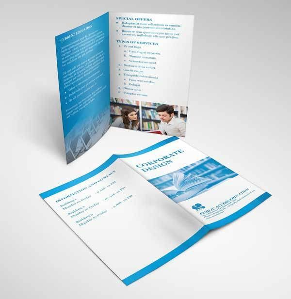 two fold brochure templates free download - 15 free bifold brochure mockup psd for print design