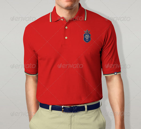 25 polo shirt mockup design for apparel designers for Free polo shirt mockup