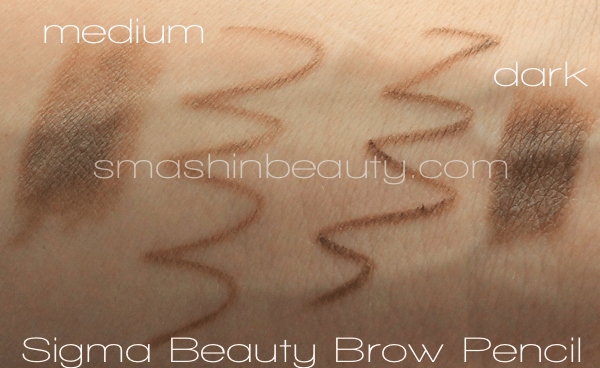 Sigma Dual-ended Brow Pencil Dark Medium Swatches