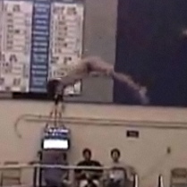 Peter Frazell qualifies as an All-American diver at the League Meet