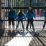 """Students took pictures in the Arena of Verona. Senior Camille Breckenridge said, """"I saw that gate with the light and I was like 'Oh guys let's do senior pictures!' """" Photo by Molly Howland."""