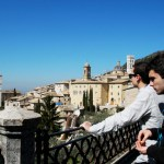 Students took in a scenic view of Assisi. Photo by Molly Howland.