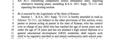 House Bill No. 2477: Compulsory School Attendance Changes