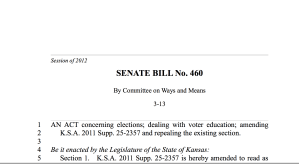 SB 460: Voter Education Program