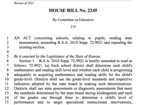 HB 2245: Third Grade Literacy Proficiency