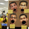 Chemistry 2 students created a Mole Toss of the chemistry teachers heads.