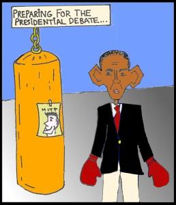 Editorial Cartoon: Debate Prep