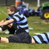 Mitch Kaskie lays on the ground after the loss against Washburn Rural. Photo by Caroline Creidenberg