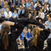 Lancer Dancers perform their half time dance. Photo by Paloma Dickey