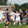 Lancers anticipate the ball after a corner kick.  Photo by AnnaMarie Oakley