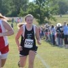 Freshman Maura Kate Mitchelson races another competitor during the girls c team race. Photo by Neely Atha