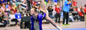 Freshman Competes As Level 10 Gymnast