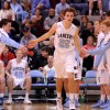 Junior Gunnar Englund enters the court before the game. Photo by Marisa Walton