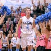 Senior Luke Haverty enters the court before the game. Photo by Marisa Walton