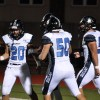 Sophomore Wyatt Edminsten celebrates with his teammates after he scores. Photo by Allison Stockwell