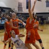Sophomore Kyle Haverty struggles to get the rebound. Photo by Annie Lomshek