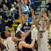 Senior Max Danner goes in for a rebound to recover the ball for SME. Photo by Ali Hickey