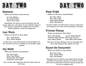 Repertory Theatre Original One Acts: Day Two