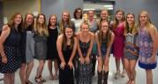 The 2015 Girl's Varisty Softballl team. Photo by Annie Lomshek.