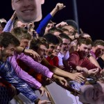 The student section cheers after Luke Ehly scores the winning goal. Photo by Diana Percy