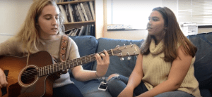 Blue Couch: Christian Kennedy and Reagan Flora