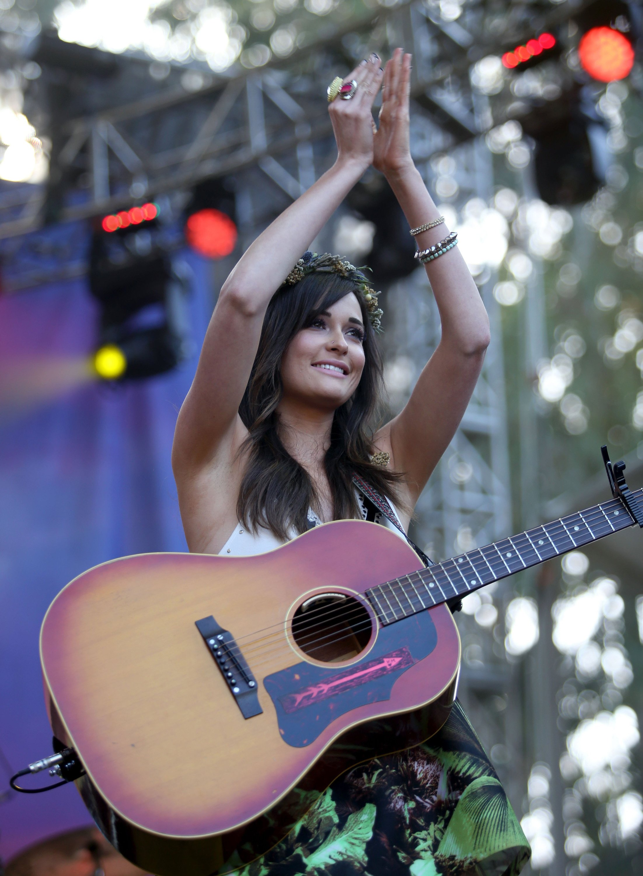 Kacey Musgraves performs on the Sutro stage during day one of the Outside Lands music festival at Golden Gate Park in San Francisco on August 8, 2014. The festival runs through Sunday. (Jane Tyska/Bay Area News Group/MCT)