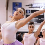 Junior Gretchen Crum dances with the other Varsity Lancer Dancers. Photo by Morgan Browning