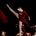 """Sophomore Emma Renwick performs in the lyrical dance """"Lean on Me."""" Photo by Maddie Smiley"""